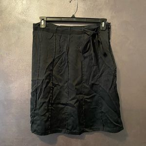 Mossimo Women's Black 100% Silk A-Line Skirt